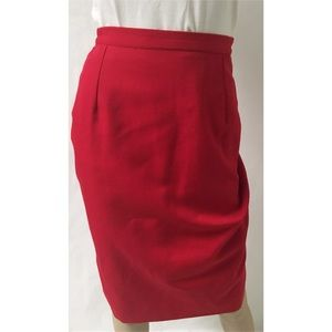 Red Pencil Skirt Size 12